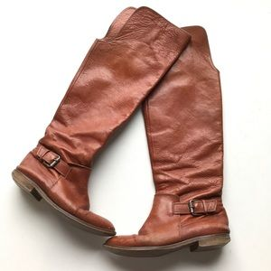Madewell Over The Knee Riding Boot Buckle Brown